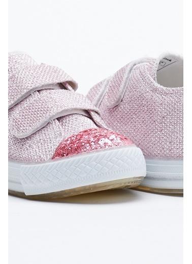 Tonny Black Pembe Çocuk Spor Ayakkabı Işıklı Cırtlı Tb997 Pembe